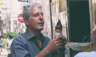 Anthony Bourdain eating